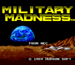 Military Madness title screenshot