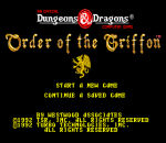 Order of the Griffon title screenshot