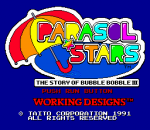Parasol Stars - The Story of Bubble Bobble III title screenshot