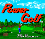 Power Golf title screenshot