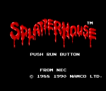 Splatterhouse title screenshot