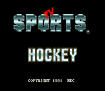 TV Sports Hockey title screenshot