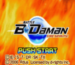 Battle B-Daman - Fire Spirits! title screenshot