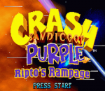 Crash Bandicoot Purple - Ripto's Rampage title screenshot