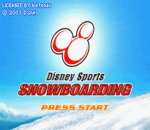 Disney Sports - Snowboarding title screenshot