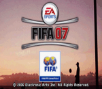 FIFA Soccer 07 title screenshot