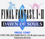 Final Fantasy I & II - Dawn of Souls title screenshot