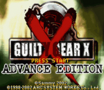 Guilty Gear X - Advance Edition title screenshot