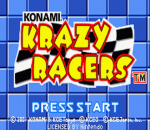Konami Krazy Racers title screenshot