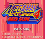 Mega Man Battle Network 4 - Red Sun title screenshot