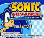 Sonic Advance title screenshot