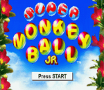 Super Monkey Ball Jr. title screenshot