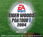 Tiger Woods PGA Tour 2004 title screenshot