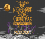 Tim Burton's The Nightmare Before Christmas - The Pumpkin King title screenshot
