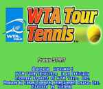 WTA Tour Tennis title screenshot