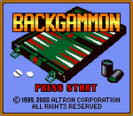 Backgammon title screenshot