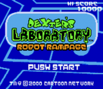 Dexter's Laboratory - Robot Rampage title screenshot