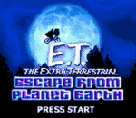 E.T. The Extra Terrestrial - Escape from Planet Earth title screenshot