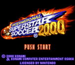 International Superstar Soccer 2000 title screenshot