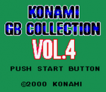Konami GB Collection Vol.4 title screenshot