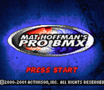 Mat Hoffman's Pro BMX title screenshot