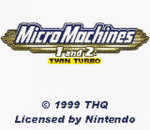 Micro Machines 1 and 2 - Twin Turbo title screenshot
