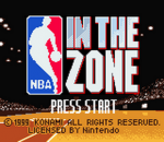 NBA In the Zone title screenshot