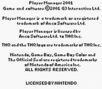 Player Manager 2001 title screenshot