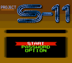 Project S-11 title screenshot