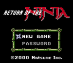 Return of the Ninja title screenshot