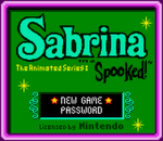 Sabrina - The Animated Series - Spooked! title screenshot