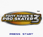 Tony Hawk's Pro Skater 3 title screenshot