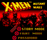 X-Men - Mutant Wars title screenshot