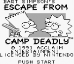 Bart Simpson's Escape from Camp Deadly title screenshot