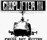 Choplifter III title screenshot