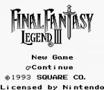 Final Fantasy Legend III title screenshot