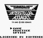 Gradius - The Interstellar Assault title screenshot