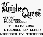 Knight Quest title screenshot