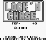 Lock'n Chase title screenshot