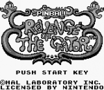 Pinball - Revenge of the 'Gator title screenshot