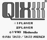 Qix title screenshot