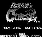 Rolan's Curse title screenshot