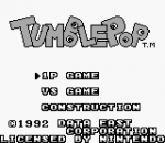 Tumble Pop title screenshot