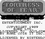 Wizards & Warriors Chapter X - The Fortress of Fear title screenshot