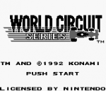 World Circuit Series title screenshot
