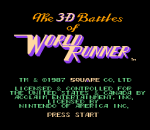3-D WorldRunner title screenshot