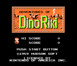Adventures of Dino Riki title screenshot