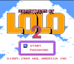 Adventures of Lolo 2 title screenshot