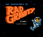 Adventures of Rad Gravity, The title screenshot