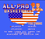 All-Pro Basketball title screenshot